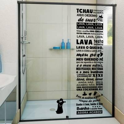 Adesivo para Box de Banheiro Ratinho Castelo Rá-Tim-Bum