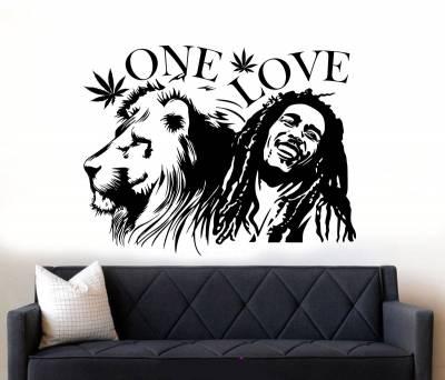 Adesivo de Parede Bob Marley de Leão One Love