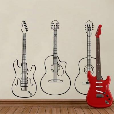 Adesivo De Parede Instrumentos Musicais