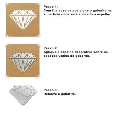 Espelho Decorativo Diamante