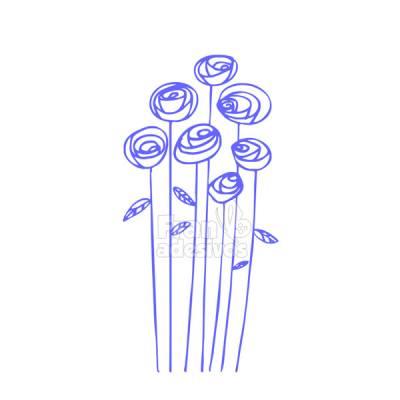 Adesivo de Geladeira Rosas