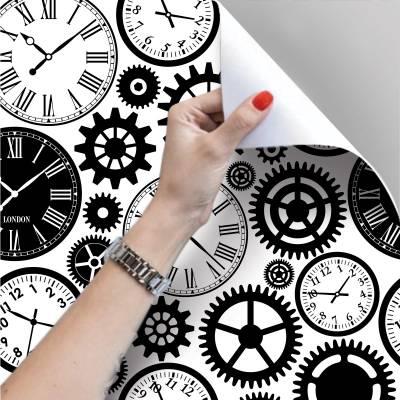 Papel De Parede Adesivo Relógios Antigos