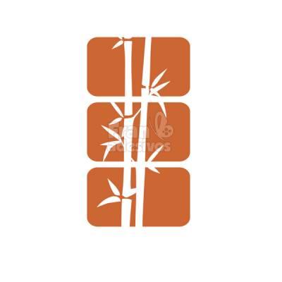 Adesivo Decorativo de Parede Bambu em Quadros