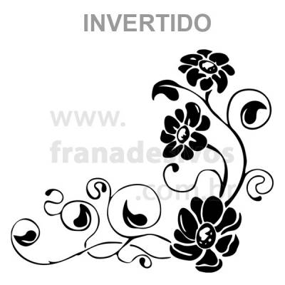 Adesivo de Parede Floral 18