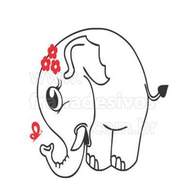 Adesivo para Geladeira Elefantinha com laço