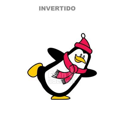 Adesivo para geladeira Pinguim brincando