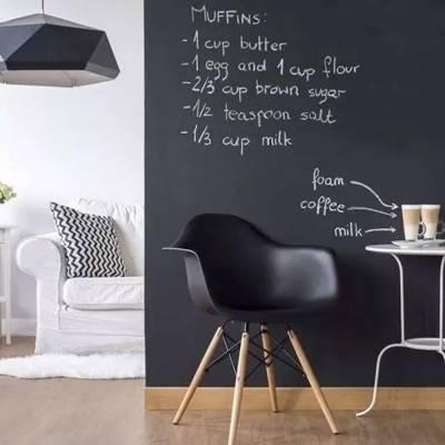 Papel Parede Adesivo Lousa Quadro Negro Preto Fosco 0,5mx 1m
