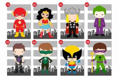 Placa Decorativa Infantil Heróis Dc E Marvel