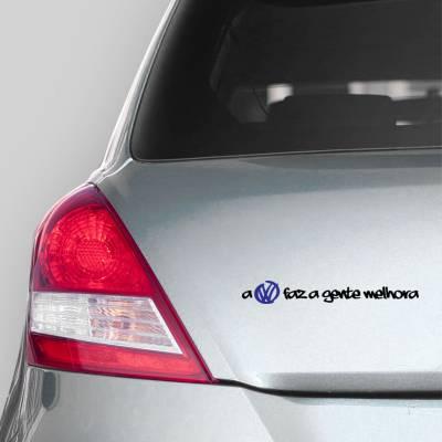 Adesivo De Carro A Volkswagen Faz a Gente Melhor