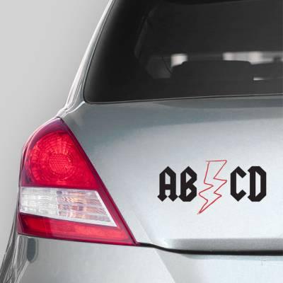 Adesivo de Carro ABCD