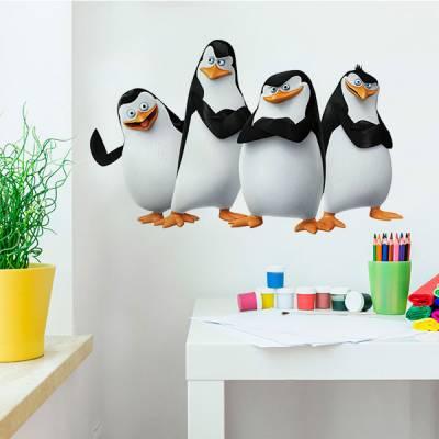 Adesivo de Parede Os Pinguins de Madagascar