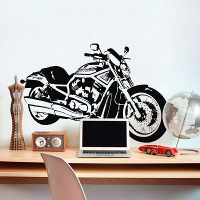 Adesivo De Parede Moto Harley