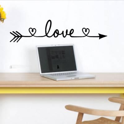 Adesivo De Parede Flecha Escrito Love