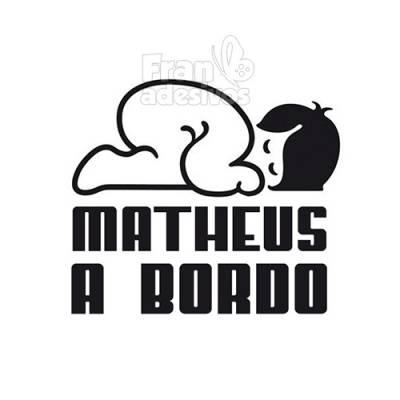 Adesivo Bebê a Bordo Personalizado Bebe Dormindo 3