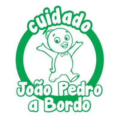 Adesivo Bebê a Bordo Personalizado Backyards Pablo