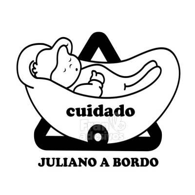 Adesivo Bebê a Bordo Personalizado Bebe Dormindo