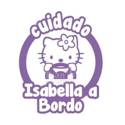 Adesivo Bebê a Bordo Personalizado Hello Kitty