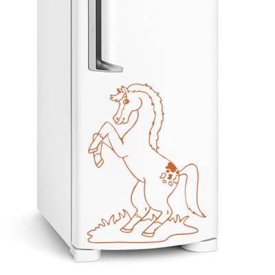 Adesivo de geladeira Cavalo / Cavalinho feliz