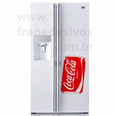 Adesivo de Geladeira Coca Cola Lata