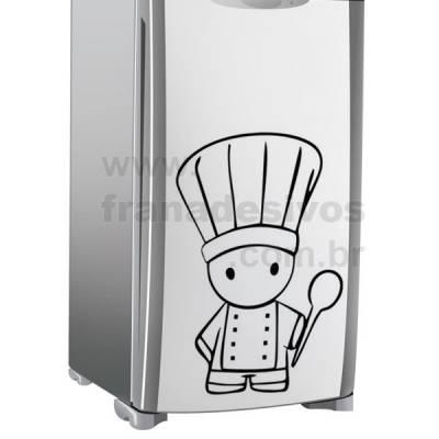 Adesivo de Geladeira Mini Chefe com colher