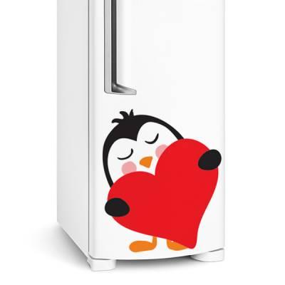 Adesivo de geladeira Pinguim Apaixonado 2