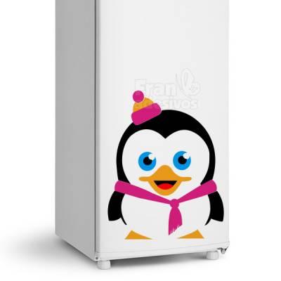 Adesivo de Geladeira Pinguim com Agasalho
