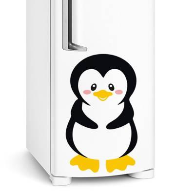 Adesivo de geladeira Pinguim timido