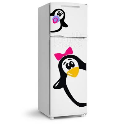 Adesivo de Geladeira Pinguim com laço 3