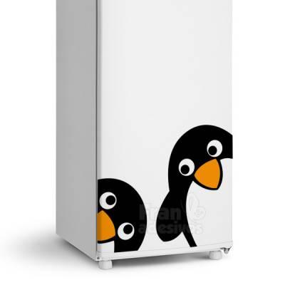 Adesivo de Geladeira Pinguins Amigos