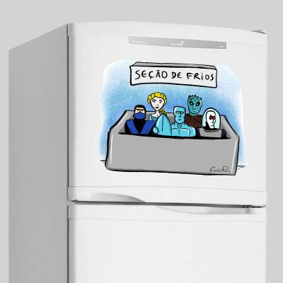 Adesivo Para Geladeira Seção De Frios