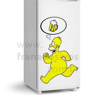 Adesivo de Geladeira Simpsons - Homer Colorido