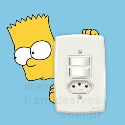 Adesivo de parede - Interruptor - Bart Simpson