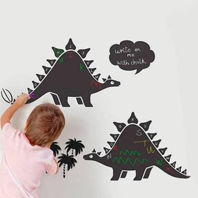 Adesivo de lousa para parede Dinossauros