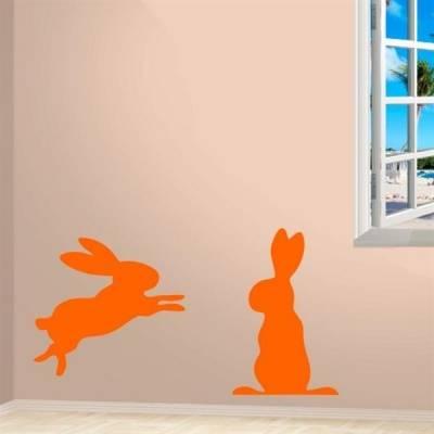 Adesivo de parede 2 coelhos