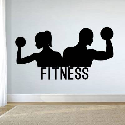 Adesivo de Parede Casal Fitness