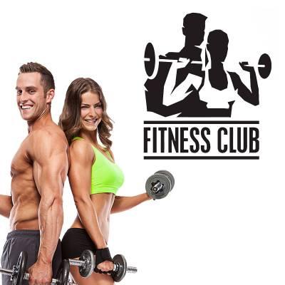 Adesivo De Parede Diversos Fitness Club
