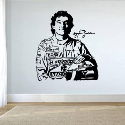 Adesivo de Parede Ayrton Senna 2
