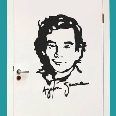 Adesivo de Parede Ayrton Senna 3