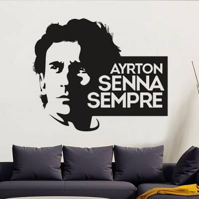 Adesivo de Parede Ayrton Senna 4