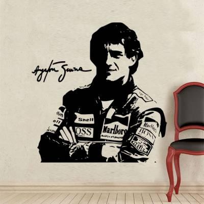 Adesivo de Parede Ayrton Senna 1
