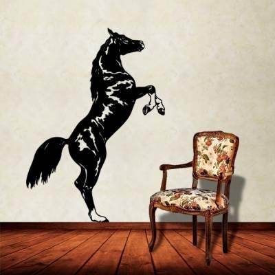 Adesivo de Parede Animais Cavalo Empinando