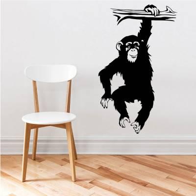 Adesivo De Parede chimpanzé no Galho