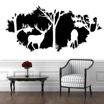 Adesivo De Parede Animais da Floresta