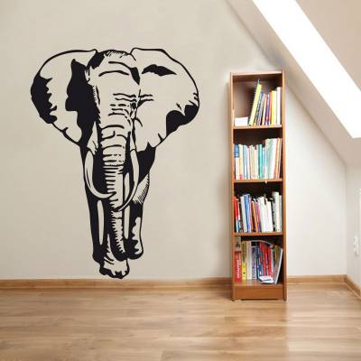 Adesivo de Parede Animais Silhueta Elefante