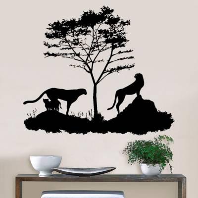 Adesivo de Parede Animais na Floresta