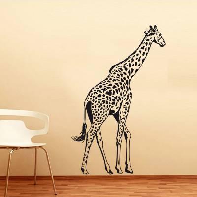 Adesivo De Parede Animais Girafa Silhueta