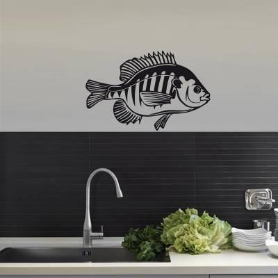 Adesivo De Parede Animais Peixe Silhueta