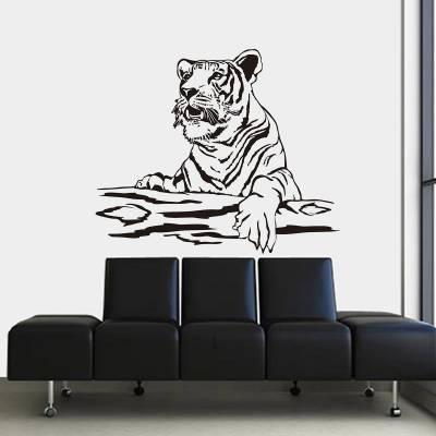 Adesivo de Parede Animais Tigre e Galho