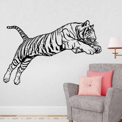 Adesivo de Parede Tigre Pulando