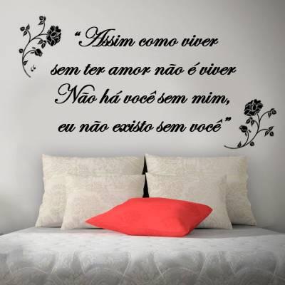 Adesivo de Parede Assim como viver sem ter amor não é viver...
